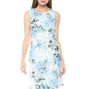 KARL LAGERFELD Blue Hydrangea Floral Lace Dress 12
